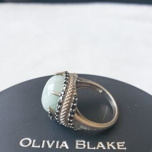 Jade of Yesteryear ring 925 sterling silver